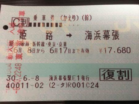 新幹線の往復乗車券の途中下車ルール