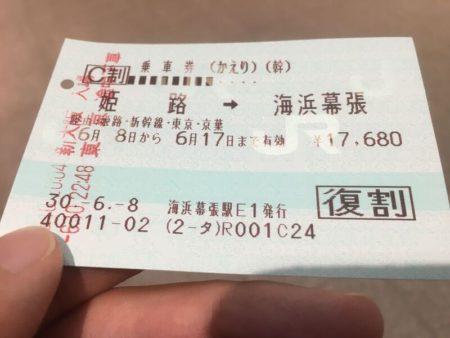 JRの往復乗車券の割引