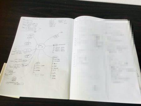 筆記開示のノート